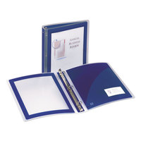 Avery 17638 Navy Blue Flexi-View Binder With 1 1/2 inch Round Rings