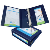 Avery 68038 Navy Blue Heavy-Duty Framed View Binder with 3 inch Locking One Touch EZD Rings
