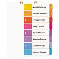 Avery 13158 Ready Index 8-Tab Multi-Color Customizable Table of Contents Dividers