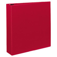 Avery 27203 Red Durable Non-View Binder with 2 inch Slant Rings