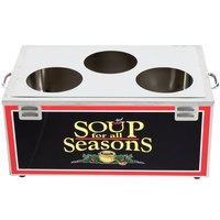 Nemco 6510-T4P Triple Well 4 Qt. Soup Warmer - Single Thermostat