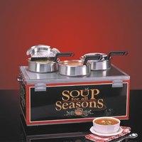 Nemco 6510-T4P Triple Well 4 Qt. Soup Warmer - Single Thermostat
