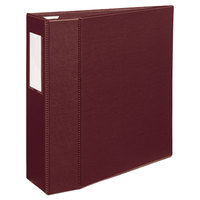 Avery 21005 Maroon Heavy-Duty Non-View Binder with 4 inch One Touch EZD Rings and Spine Label Holder