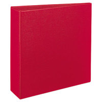 Avery 27204 Red Durable Non-View Binder with 3 inch Slant Rings