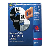 Avery 5931 Matte White CD / DVD Labels - 50/Pack