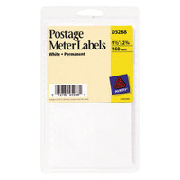 Avery 5288 1 1/2 inch x 2 3/4 inch White Rectangular Postage Meter Labels - 160/Pack