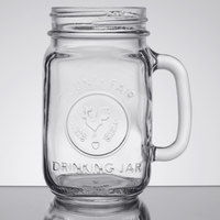 Libbey 97085 16 oz. County Fair Mason Jar / Drinking Jar with Handle - 12/Case