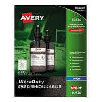 Avery 60526 UltraDuty 2 inch x 2 inch GHS Chemical Labels for Pigment-Based Inkjet Printers - 600/Pack