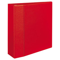 Avery 79584 Red Heavy-Duty Non-View Binder with 4 inch Locking One Touch EZD Rings