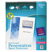 Avery 74106 8 1/2 inch x 11 inch Diamond Clear Heavyweight Top-Load Sheet Protectors, Letter - 50/Box