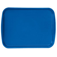 Vollrath 1216-44 Traex® 12 inch x 16 inch Royal Blue Rectangular Premium Plastic Fast Food Tray with Built-In Handles - 24/Case
