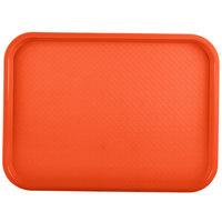 Vollrath 86124 14 inch x 18 inch Orange Plastic Fast Food Tray - 12/Case