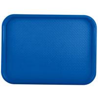 Vollrath 86117 12 inch x 16 inch Royal Blue Plastic Fast Food Tray - 24/Case
