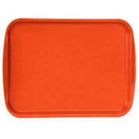 Vollrath 1216-03 Traex® 12 inch x 16 inch Orange Rectangular Premium Plastic Fast Food Tray with Built-In Handles - 24/Case