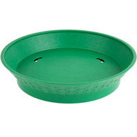 Choice 12 inch Round Green Plastic Diner Platter with Base - 12/Pack