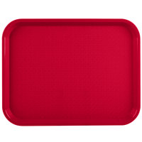 Vollrath 86100 10 inch x 14 inch Red Plastic Fast Food Tray - 24/Case