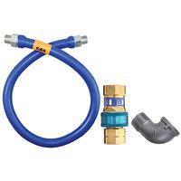 Dormont 16125BPQ48 SnapFast® 48 inch Gas Connector Kit with Elbow - 1 1/4 inch Diameter