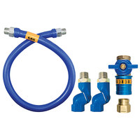 Dormont 1675BPCF2S60 Safety Quik® 60 inch Gas Connector Kit with Double Swivel MAX® - 3/4 inch Diameter