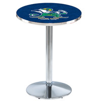 Holland Bar Stool L214C3628ND-Lep 28 inch Round Notre Dame University Pub Table with Chrome Round Base