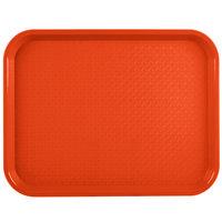 Vollrath 86104 10 inch x 14 inch Orange Plastic Fast Food Tray - 24/Case