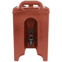 Cambro 100LCD402 Camtainers® 1.5 Gallon Brick Red Insulated Beverage Dispenser