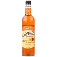 DaVinci Gourmet 750 mL Fruit Innovations Peach Cold Beverage Flavoring / Fruit Syrup