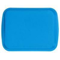Vollrath 1014-04 Traex® 10 inch x 14 inch Blue Rectangular Premium Plastic Fast Food Tray with Built-In Handles - 24/Case