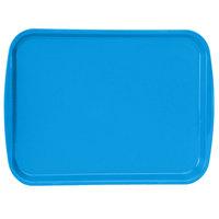 Vollrath 1216-04 Traex® 12 inch x 16 inch Blue Rectangular Premium Plastic Fast Food Tray with Built-In Handles - 24/Case