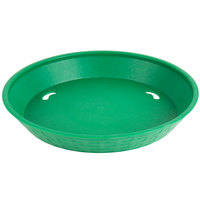 Choice 10 1/2 inch Round Green Plastic Diner Platter - 12/Pack