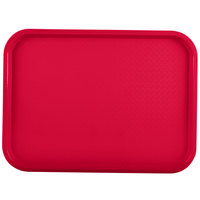 Vollrath 86110 12 inch x 16 inch Red Plastic Fast Food Tray - 24/Case