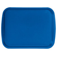 Vollrath 1014-44 Traex® 10 inch x 14 inch Royal Blue Rectangular Premium Plastic Fast Food Tray with Built-In Handles - 24/Case