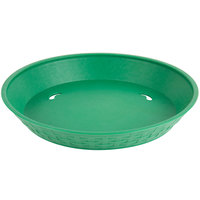 Choice 12 inch Round Green Plastic Diner Platter - 12/Pack
