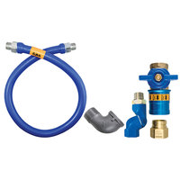 Dormont 16100BPCFS48 Safety Quik® 48 inch Gas Connector Kit with Swivel MAX® and Elbow - 1 inch Diameter