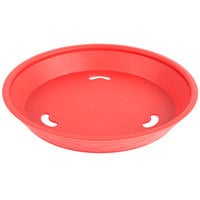 Choice 9 inch Round Red Plastic Diner Platter - 12/Pack
