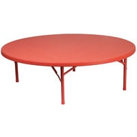 Flash Furniture RB-60R-KID-RD-GG 60 inch Round Kids Red Plastic Folding Table
