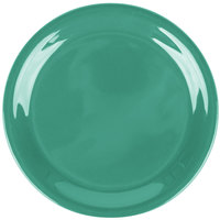 Carlisle 3300809 Sierrus 6 1/2 inch Meadow Green Narrow Rim Melamine Pie Plate - 48/Case