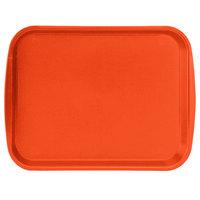 Vollrath 1014-03 Traex® 10 inch x 14 inch Orange Rectangular Premium Plastic Fast Food Tray with Built-In Handles - 24/Case