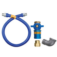 Dormont 1650BPCF36 Safety Quik® 36 inch Gas Connector Kit with Elbow - 1/2 inch Diameter
