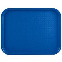 Vollrath 86107 10 inch x 14 inch Royal Blue Plastic Fast Food Tray - 24/Case