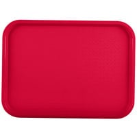 Vollrath 86120 14 inch x 18 inch Red Plastic Fast Food Tray - 12/Case