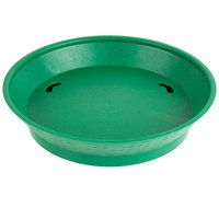 Choice 10 1/2 inch Round Green Plastic Diner Platter with Base - 12/Pack
