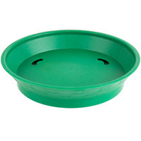 Choice 9 inch Round Green Plastic Diner Platter with Base - 12/Pack