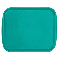 Vollrath 1418-33 Traex® 14 inch x 18 inch Teal Rectangular Premium Plastic Fast Food Tray with Built-In Handles - 12/Case