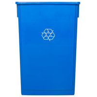 Lavex Janitorial 23 Gallon Blue Slim Recycle Bin