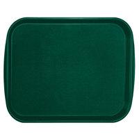 Vollrath 1418-191 Traex® 14 inch x 18 inch Vista Green Rectangular Premium Plastic Fast Food Tray with Built-In Handles - 12/Case