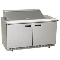 Delfield 4460N-12M 60 inch 2 Door Mega Top Refrigerated Sandwich Prep Table