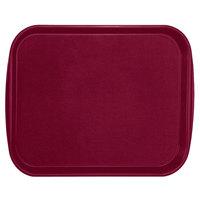 Vollrath 1418-21 Traex® 14 inch x 18 inch Burgundy Rectangular Premium Plastic Fast Food Tray with Built-In Handles - 12/Case