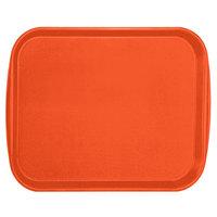 Vollrath 1418-03 Traex® 14 inch x 18 inch Orange Rectangular Premium Plastic Fast Food Tray with Built-In Handles - 12/Case