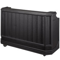 Cambro BAR730PM110 Black Cambar 73 inch Portable Bar with 7-Bottle Speed Rail and Complete Post Mix System