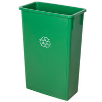 Lavex Janitorial 23 Gallon Green Slim Recycle Bin